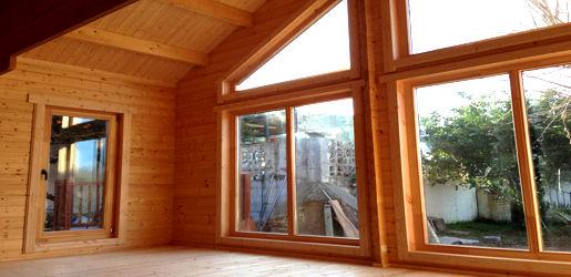Casas de madera modelo madrid daype - Casas canadienses ...