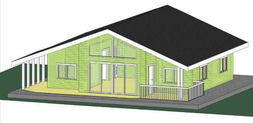 Casas de madera modelo madrid daype - Casas de madera canadienses en espana ...