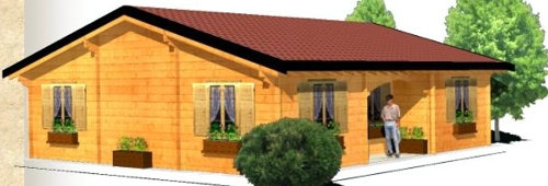 Casas de madera modelo algeciras 100 m2 daype - Casas de madera en galicia baratas ...