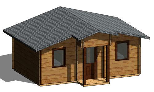 Casas de madera hasta 70 m2 modelos y precios daype - Casas de madera en cadiz ...