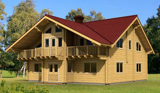 Casas de madera de 243 m2