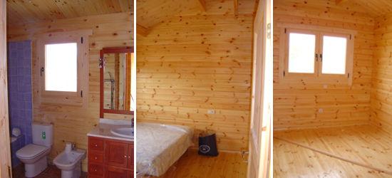Casas de madera modelo ciudad real daype - Interiores de casas prefabricadas ...