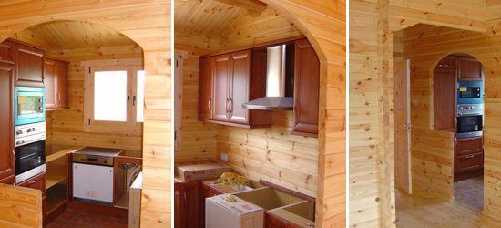 Casas de madera modelo ciudad real daype - Interiores casas de madera ...