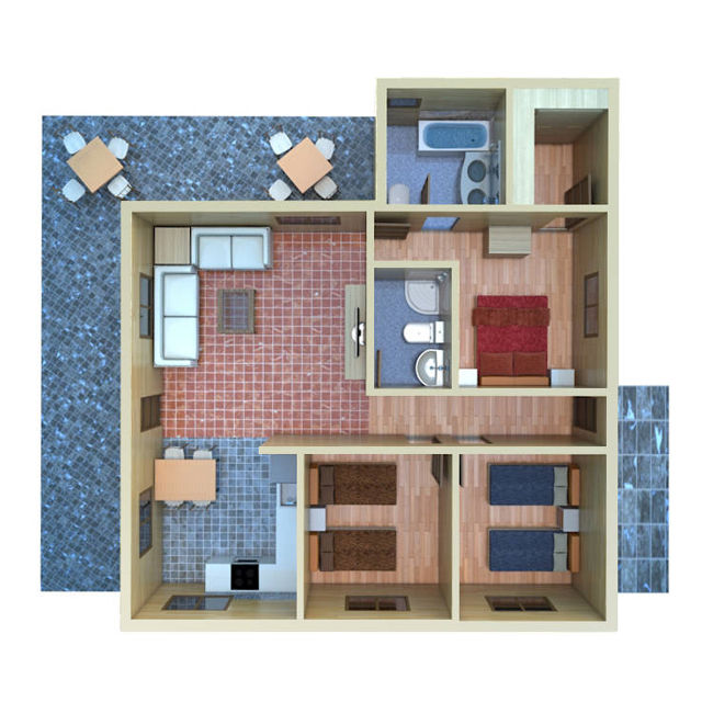 Casas de madera modelo c rdoba daype - Casas con porche ...