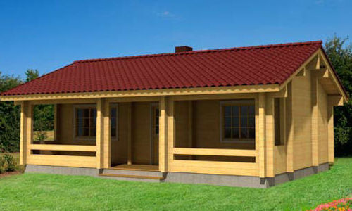 Casas de madera de 62 m2