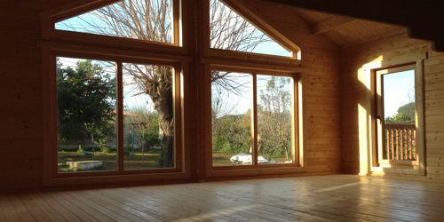 Casas de madera modelo francia daype - Casas de madera interiores ...