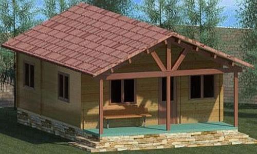 Casas de madera de 70 m2