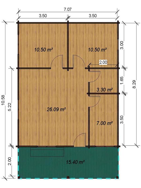 Casas de madera modelo galicia daype - Casa de madera galicia ...