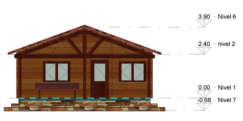 Casas de madera modelo galicia daype for Casas prefabricadas galicia