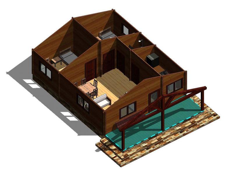 Casas de madera modelo galicia daype - Casa madera galicia ...