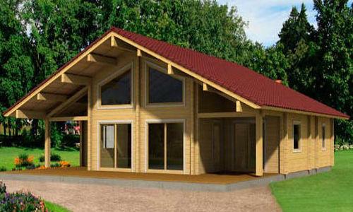 Casas de madera de 155 m2