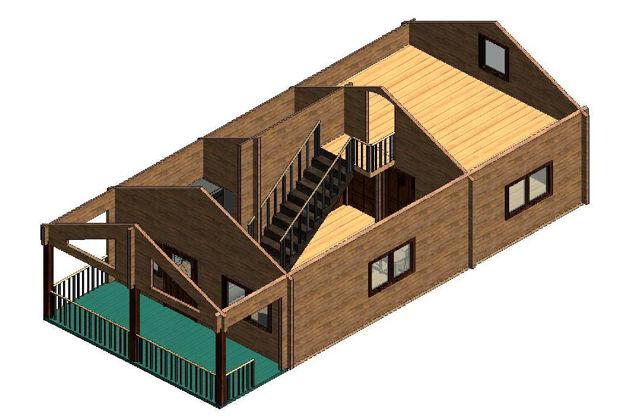 Casas de madera modelo girona daype - Casas con buhardilla ...