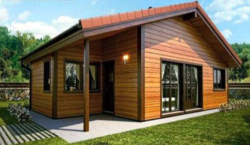 Casas de madera de 70 m2 a 110 m2 modelos y precios - Fotos de casas de madera por dentro ...