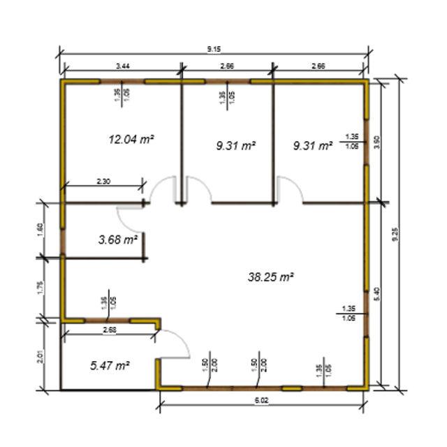 Casas de madera modelo granada daype - Casas prefabricadas en granada ...