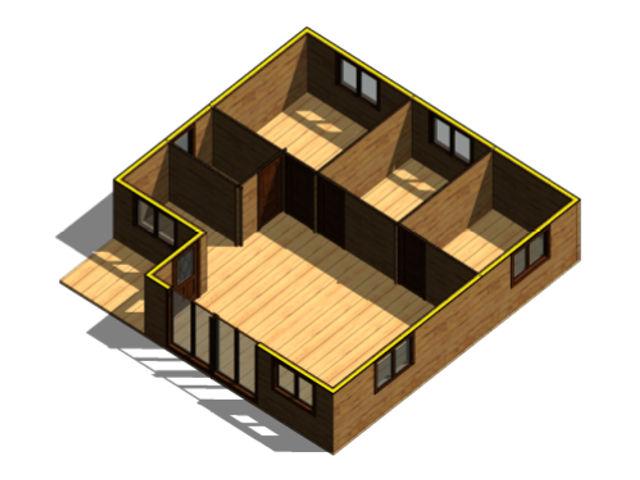 Casas de madera modelo granada daype - Casas prefabricadas granada ...