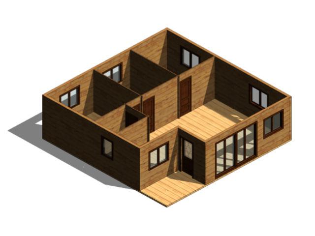 Casas de madera modelo granada daype - Casas cubo prefabricadas ...