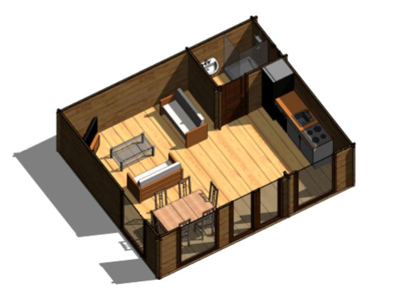 Casas de madera modelo heidi daype - Casa prefabricada galicia ...