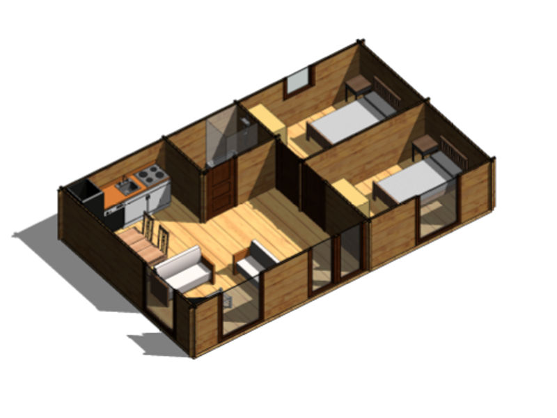 Casas de madera modelo heidi daype for Planos de madera