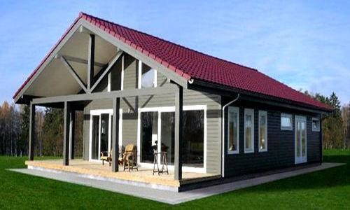 Casas de madera de 100 m2 + 38 m2 de Porche