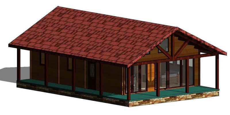 Casas de madera modelo irrueta daype - Planos casas de madera ...