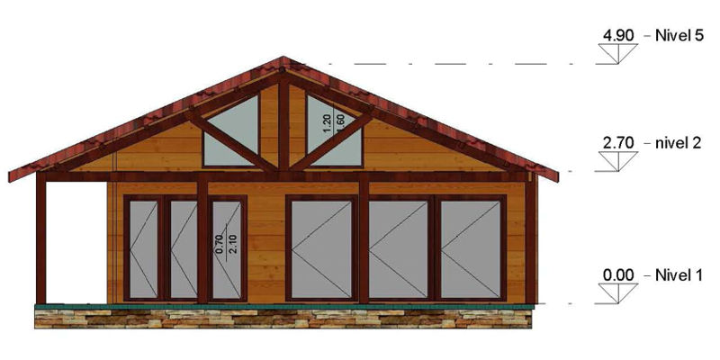 Casas de madera modelo irrueta daype - Maderas daype ...