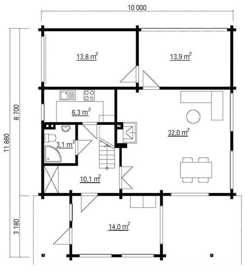 Casas de madera modelo italia daype - Planos casa madera ...