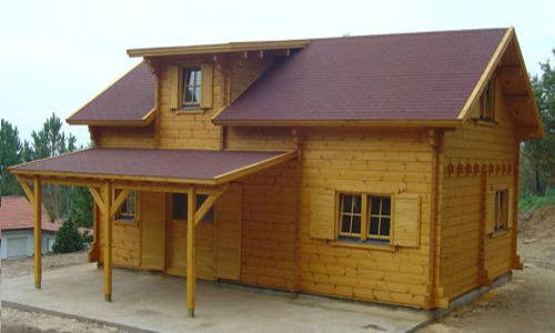 Casas de madera de 70 m2 a 110 m2 modelos y precios for Tejados de madera con tela asfaltica
