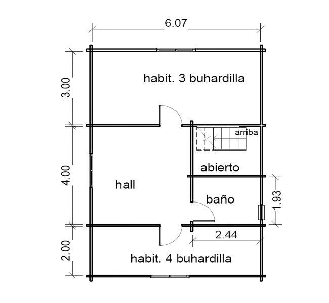 Casas de madera de 108m2