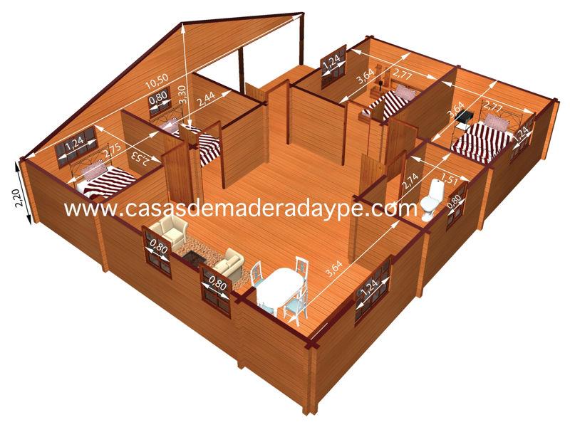 casas de madera modelo Kristy III | DAYPE