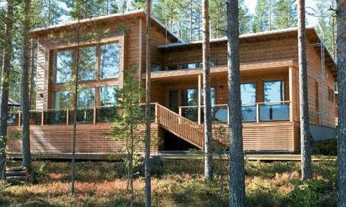 casas de madera de 90m2 + 38m2 de terraza