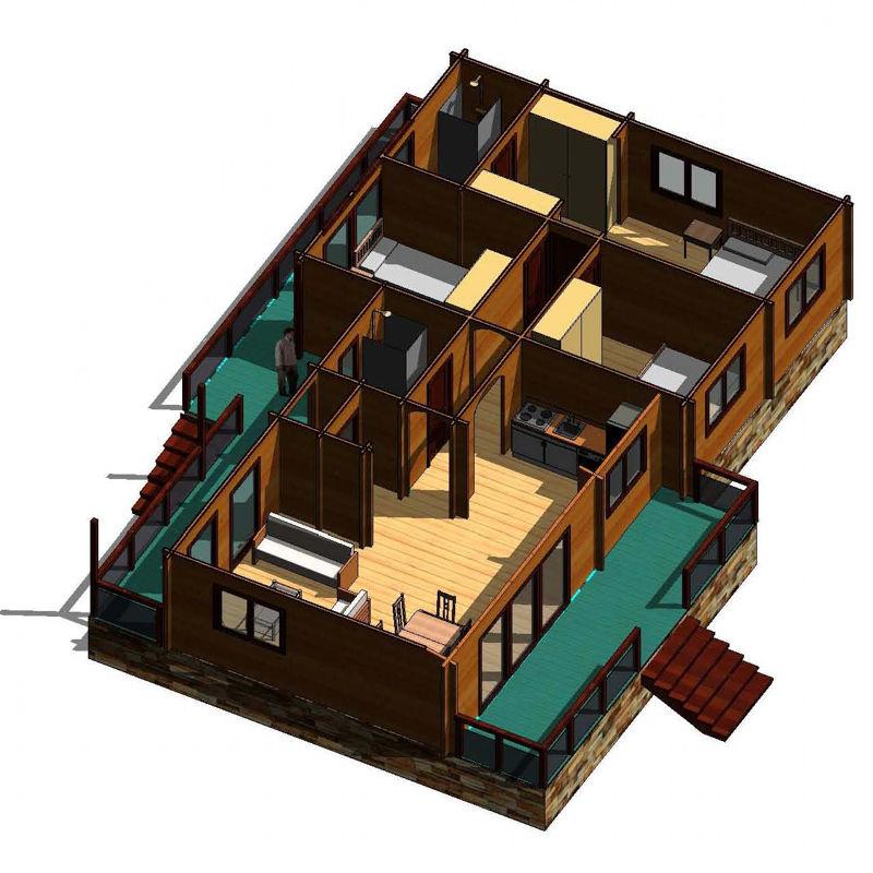 Casas de madera modelo le n daype - Tejas para casas de madera ...