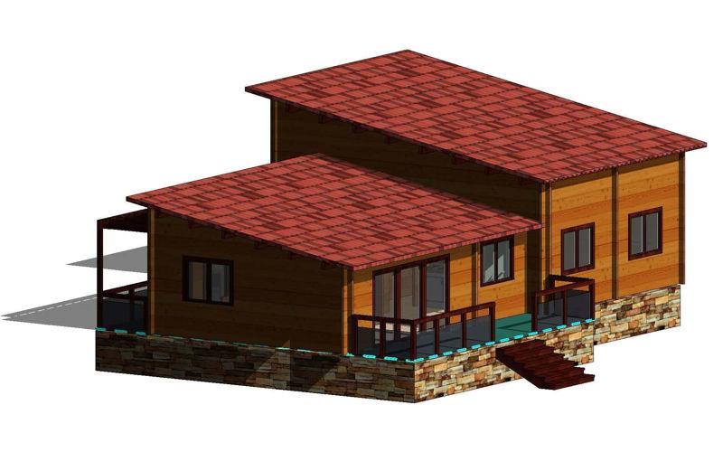 Casas de madera modelo le n daype - Casas prefabricadas en leon ...