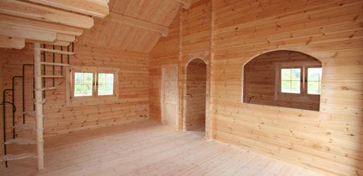 Casas de madera modelo lindau daype - Casas de madera interiores ...
