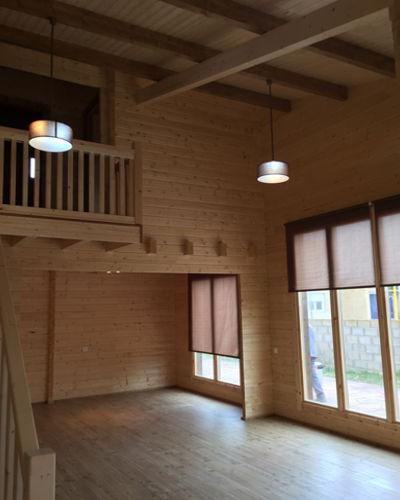 Casas de madera modelo londres fresno daype - Casas de madera interiores ...