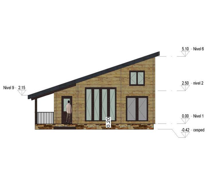 casas de madera de 105 m2
