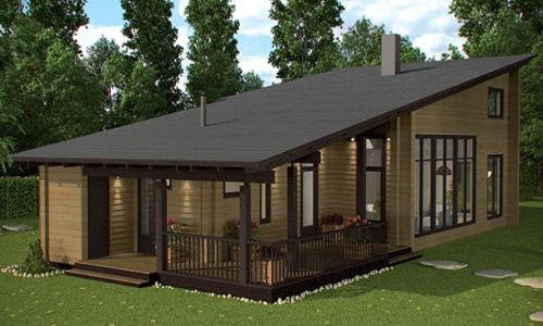 Casas de madera mas de 110 m2 modelos y precios daype for Tejados de madera prefabricados