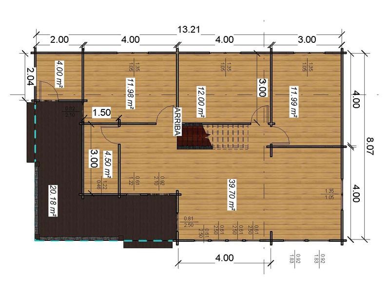 Casas de madera modelo londres daype - Planos casas de madera ...