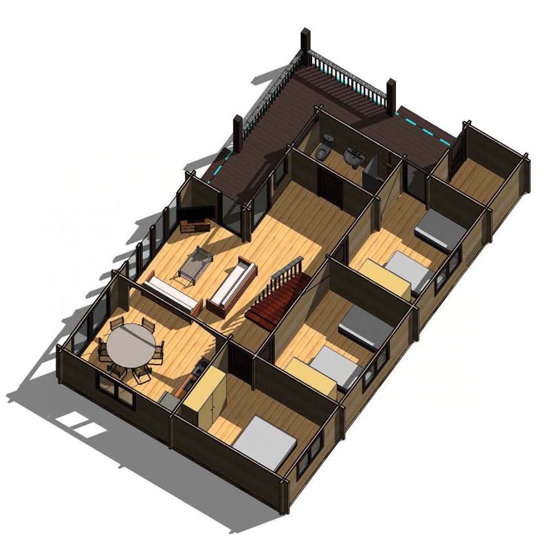 Casas de madera modelo londres daype - Planos casa madera ...