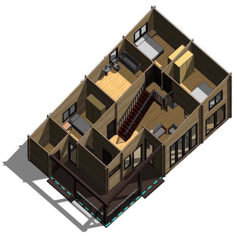 Casas de madera modelo londres daype - Tejas para casas de madera ...