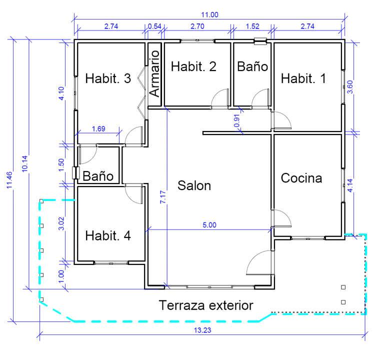 Casas de madera modelo madrid daype - Planos de casas de madera gratis ...