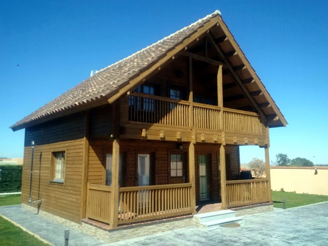 Casas de madera modelo marta daype for Casas industrializadas precios y modelos