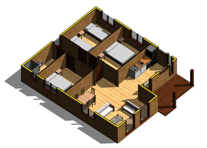 Casas de madera modelo mexico daype for Casas de madera baratas precios