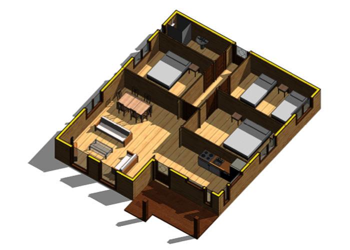 Casas de madera modelo mexico daype - Terrazas de madera precios ...