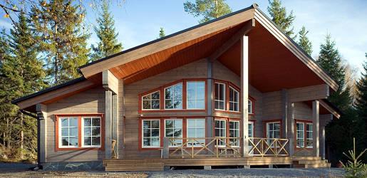 Casas de madera modelo moderna daype for Casas de madera modernas