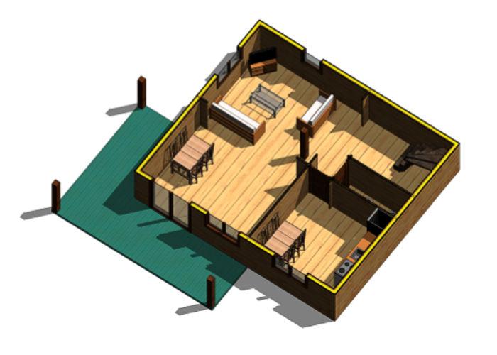 foto casa de madera paris