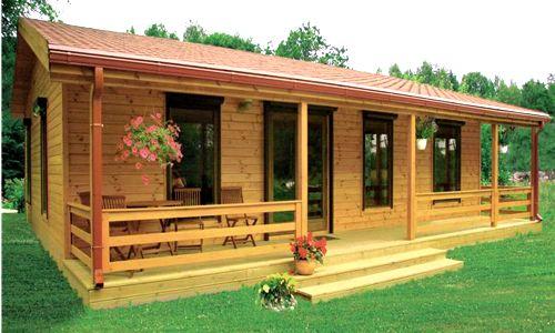 Casas de madera de 70 m2 a 110 m2 modelos y precios for Modelos planos de casas para construir