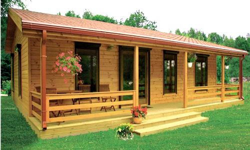 Casas de madera de 70 m2 a 110 m2 modelos y precios for Terrazas de madera para casas