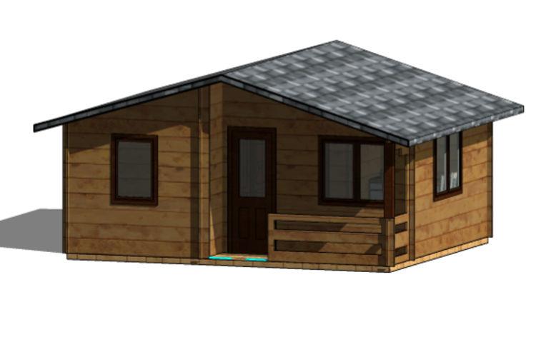 Casas de madera modelo sunny daype - Maderas daype ...