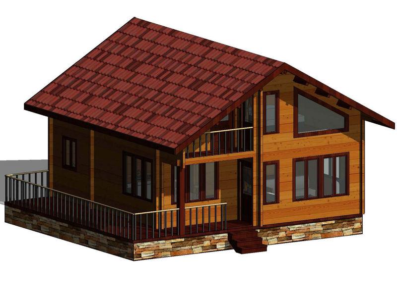 Casas de madera modelo toledo daype - Planos casas de madera ...
