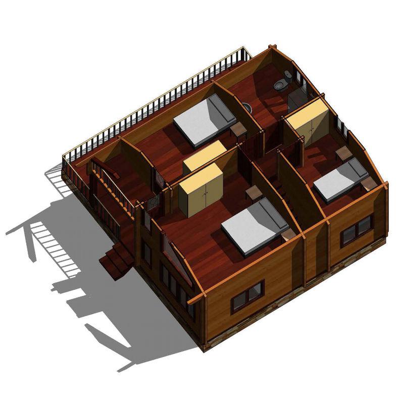 casas de madera modelo Toledo | DAYPE